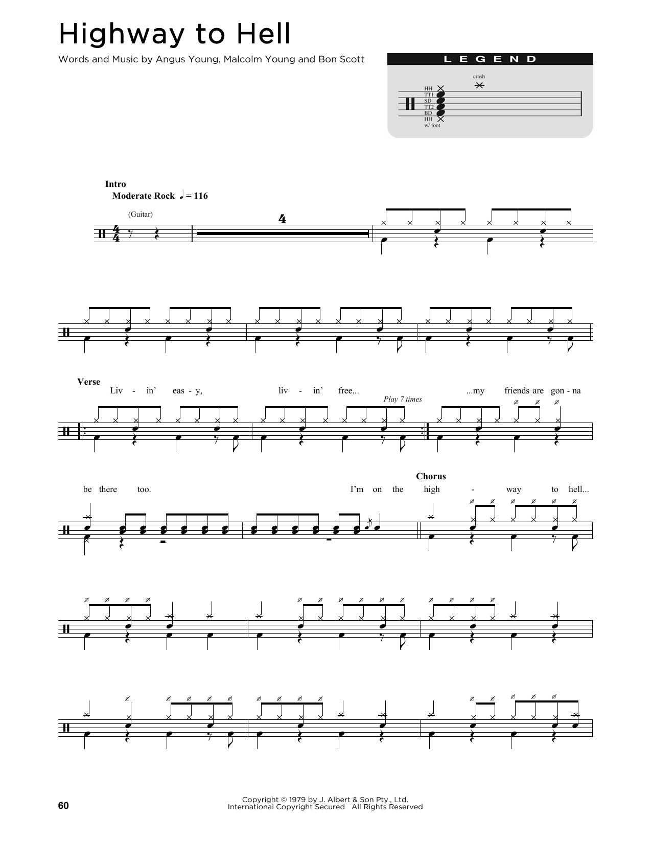 Highway To Hell Sheet Music