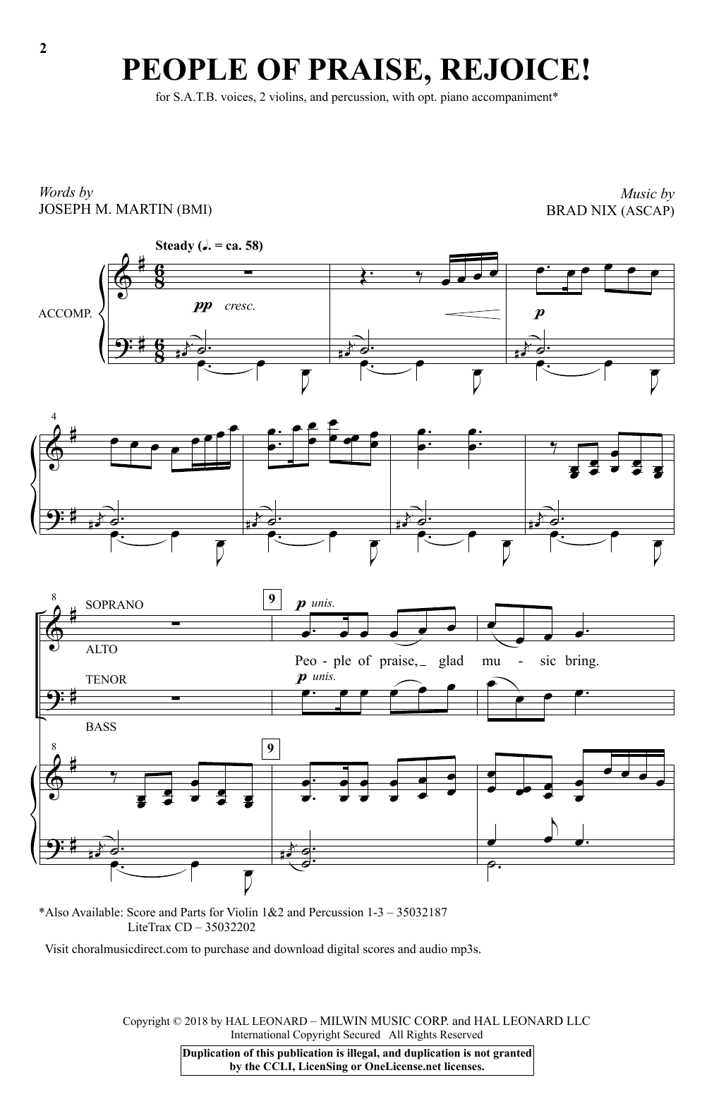 People Of Praise, Rejoice! Sheet Music