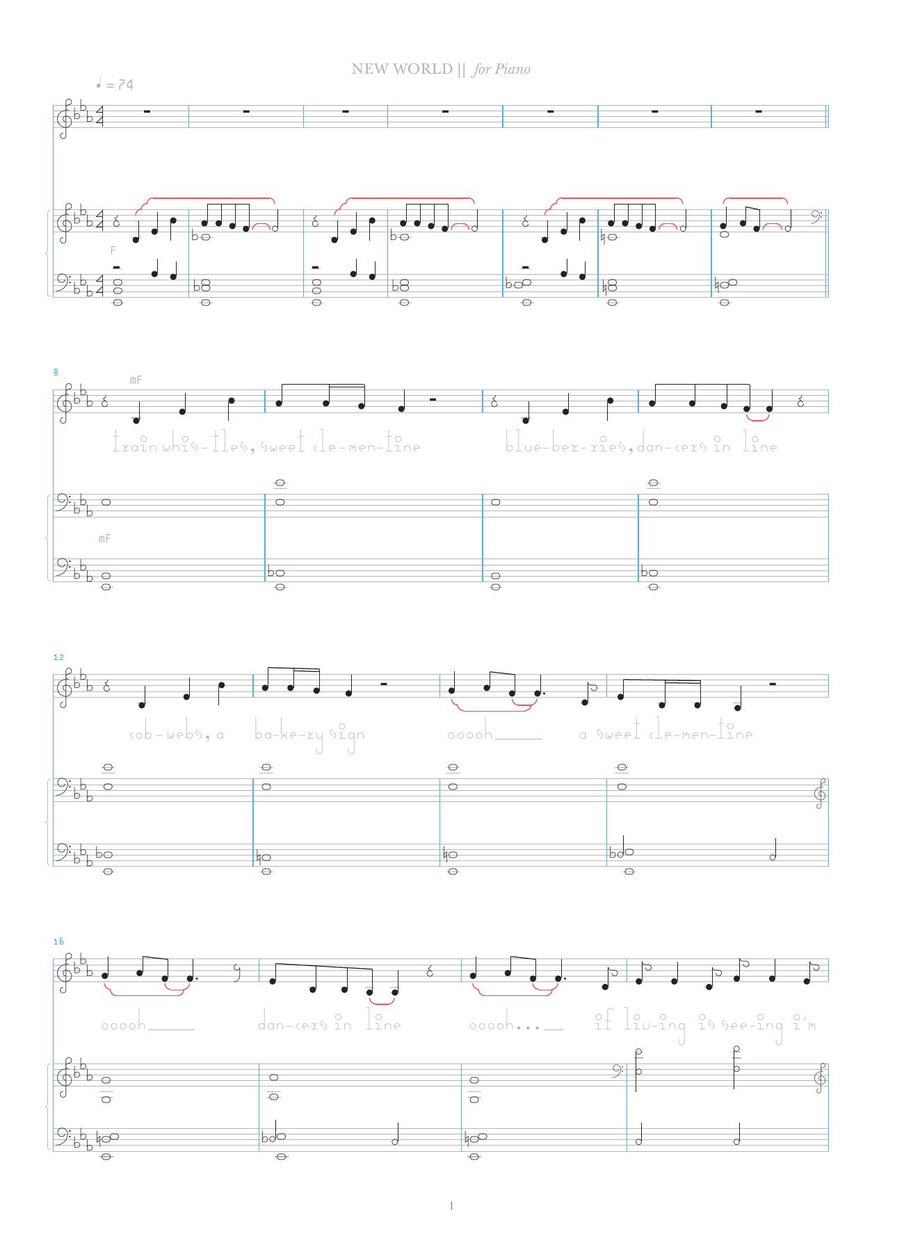 New World Sheet Music
