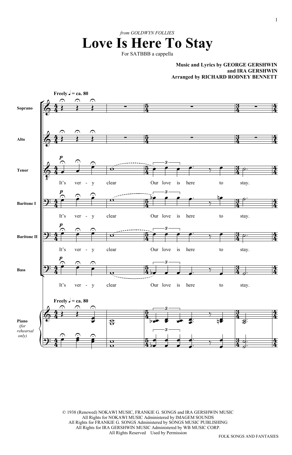 Love Is Here To Stay (SATB Choir)