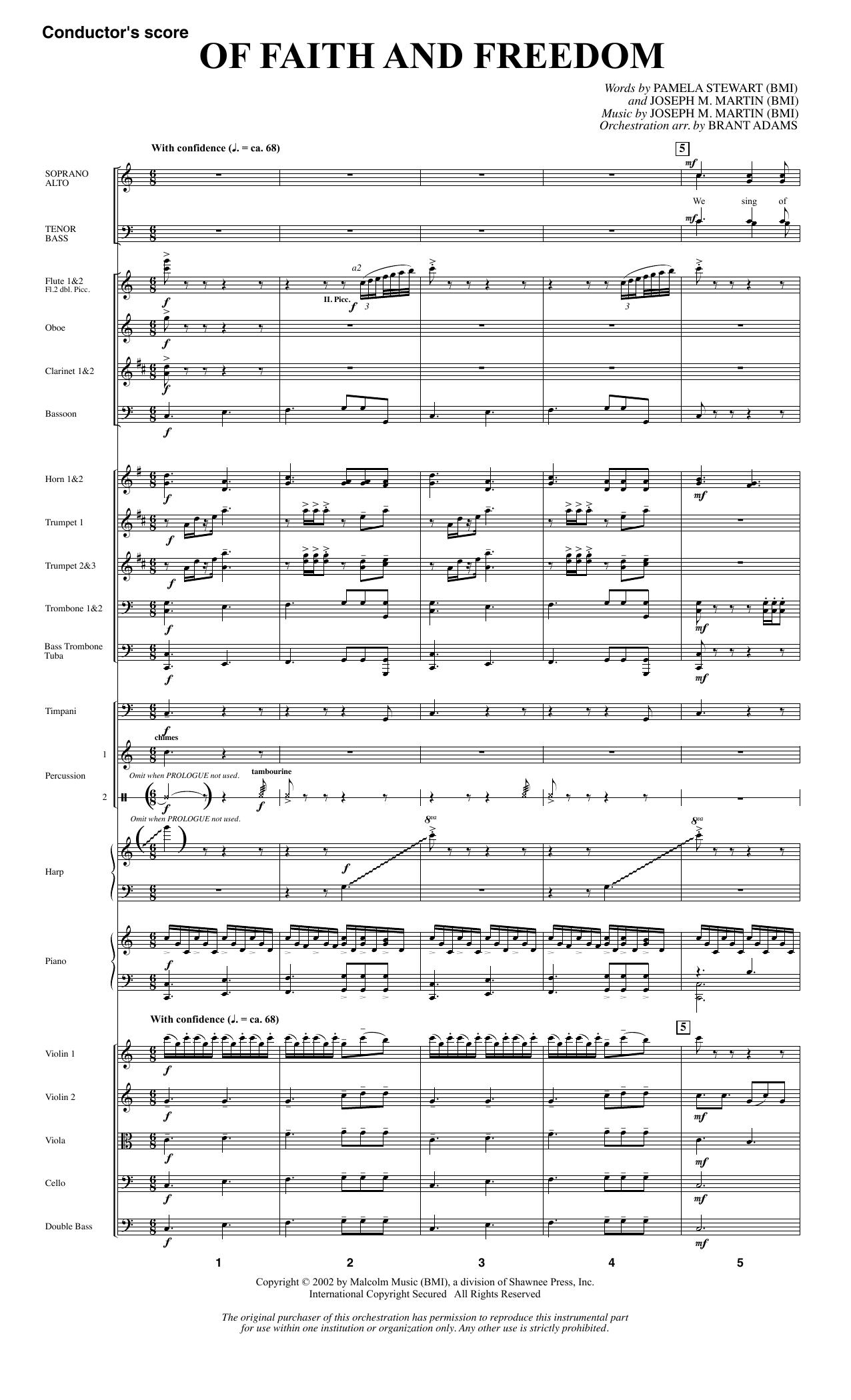 Of Faith and Freedom - Full Score (Choir Instrumental Pak)