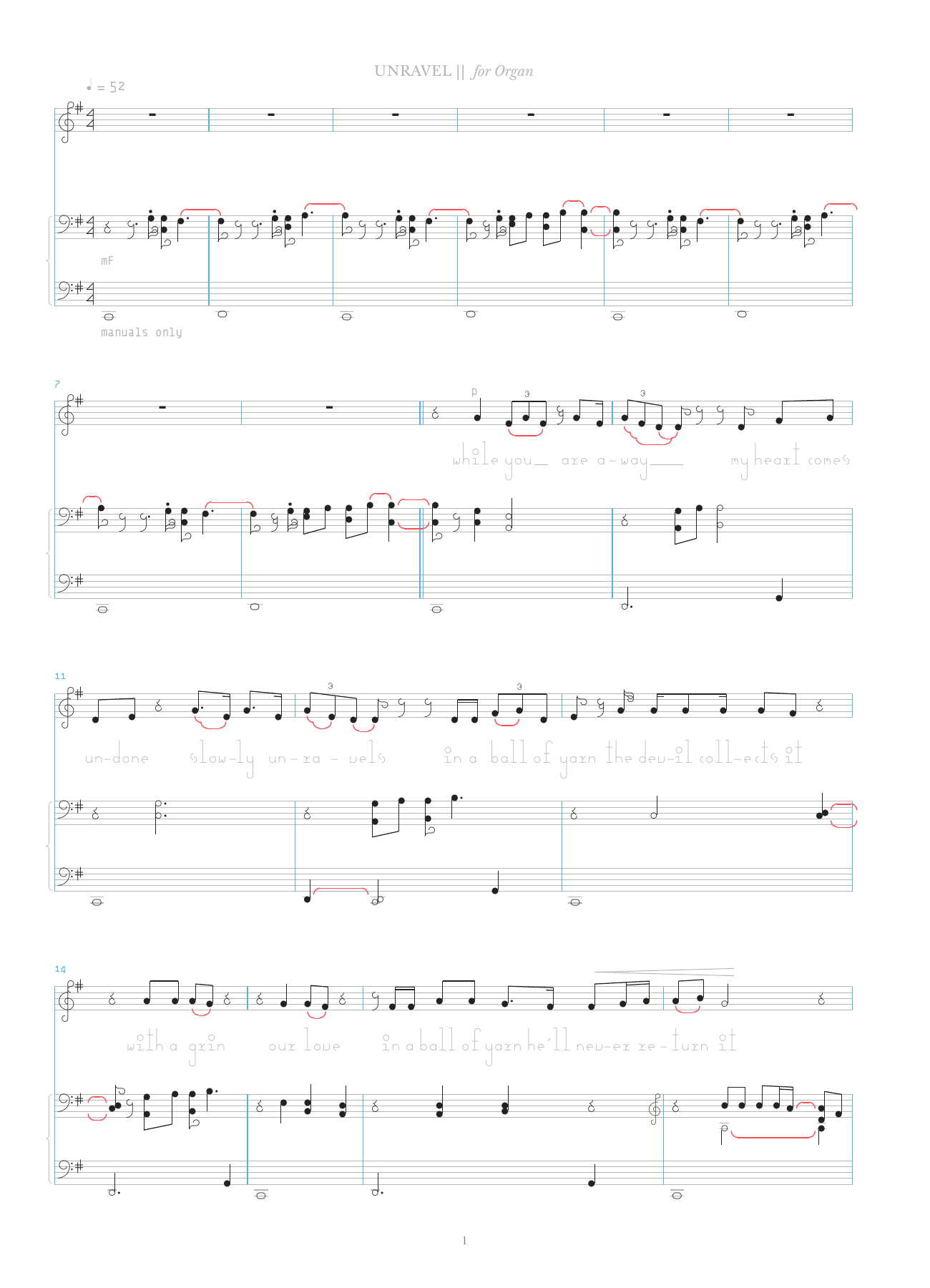 Unravel Sheet Music