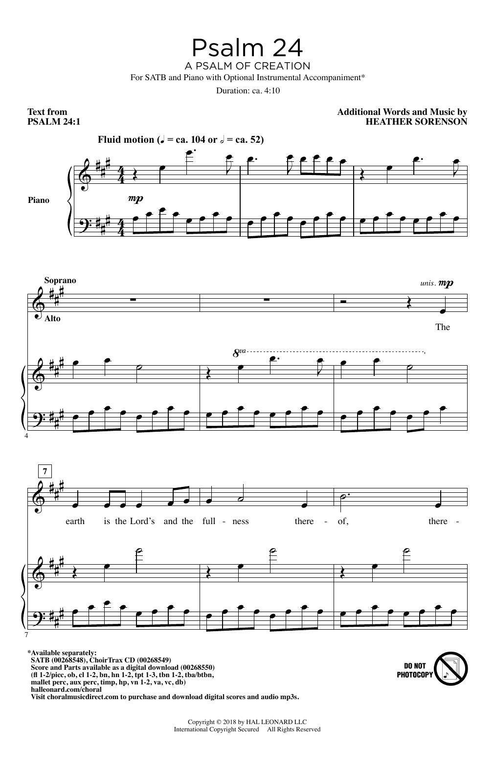 Psalm 24 (A Psalm Of Creation) Sheet Music
