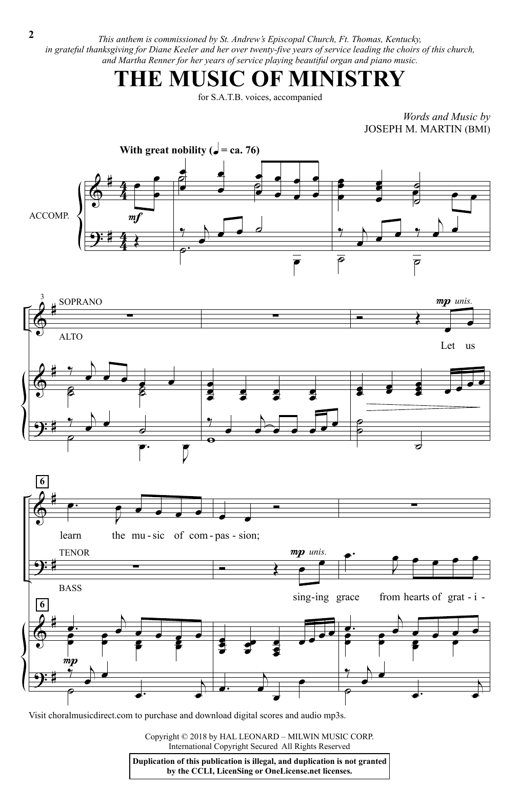 The Music Of Ministry (SATB Choir)
