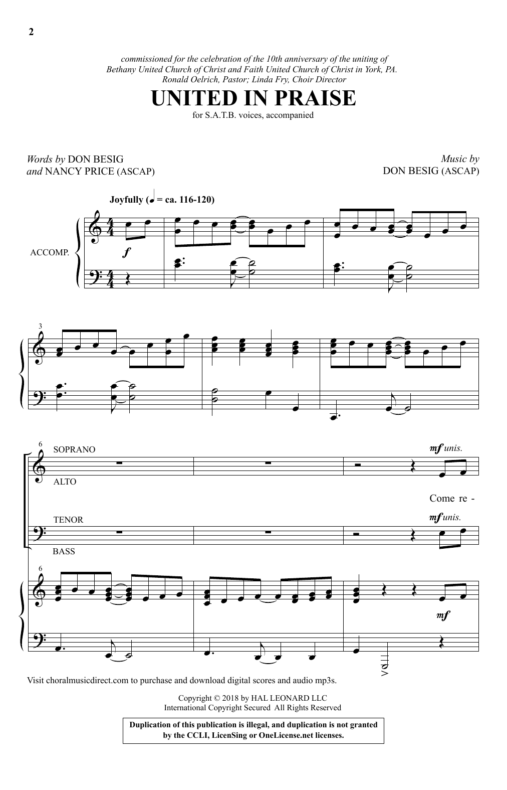 United In Praise (SATB Choir)