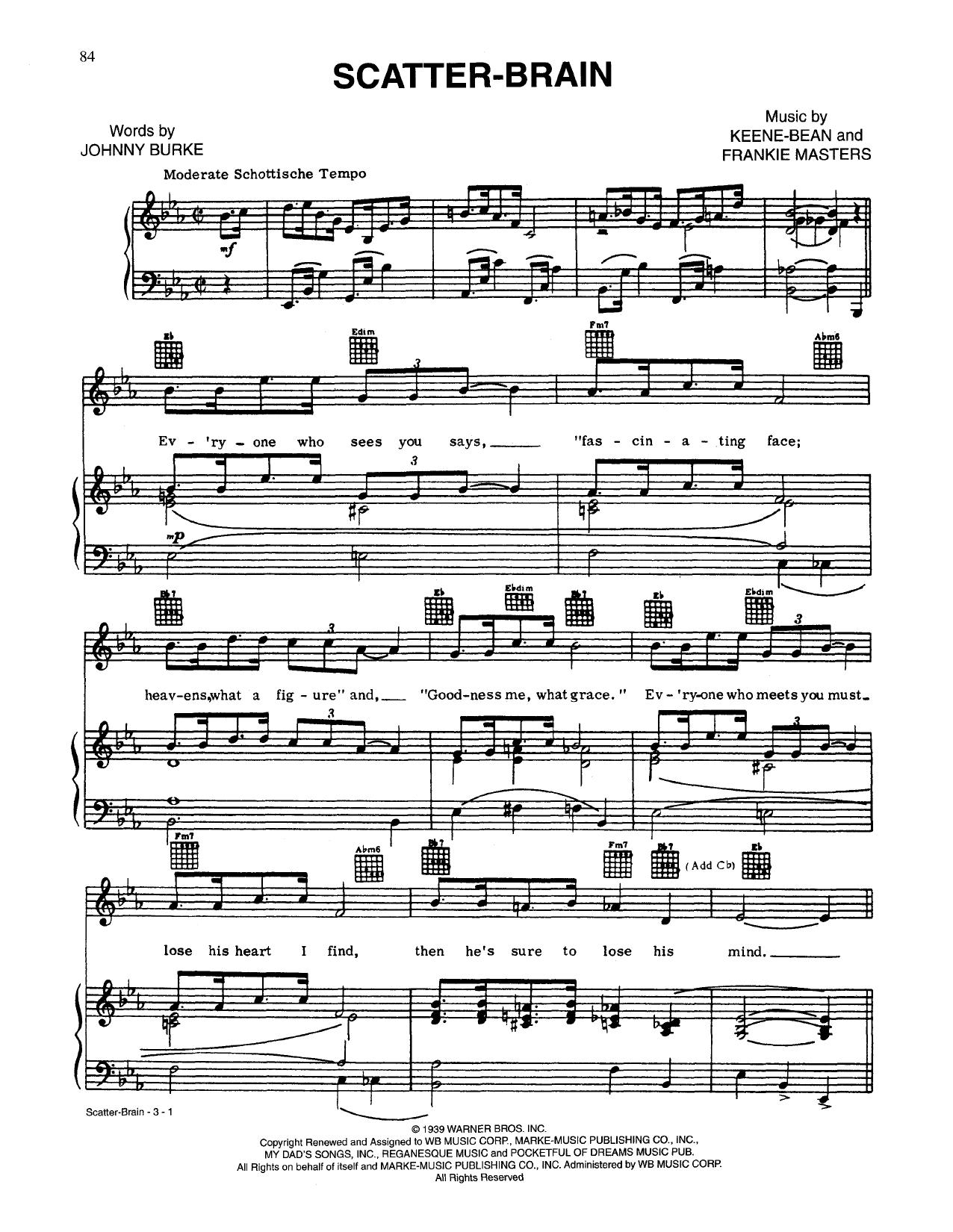 Scatterbrain Sheet Music