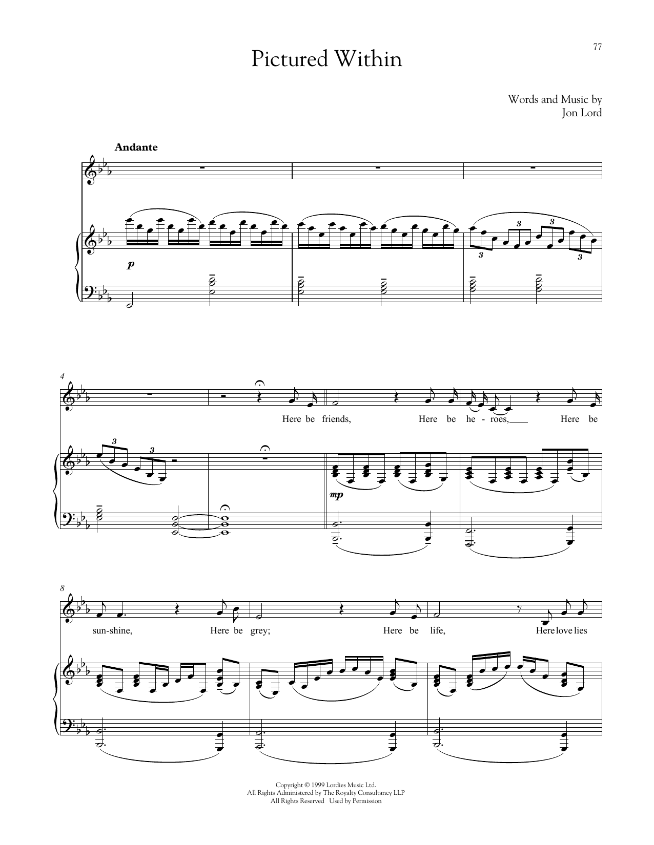 Pictured Within Sheet Music