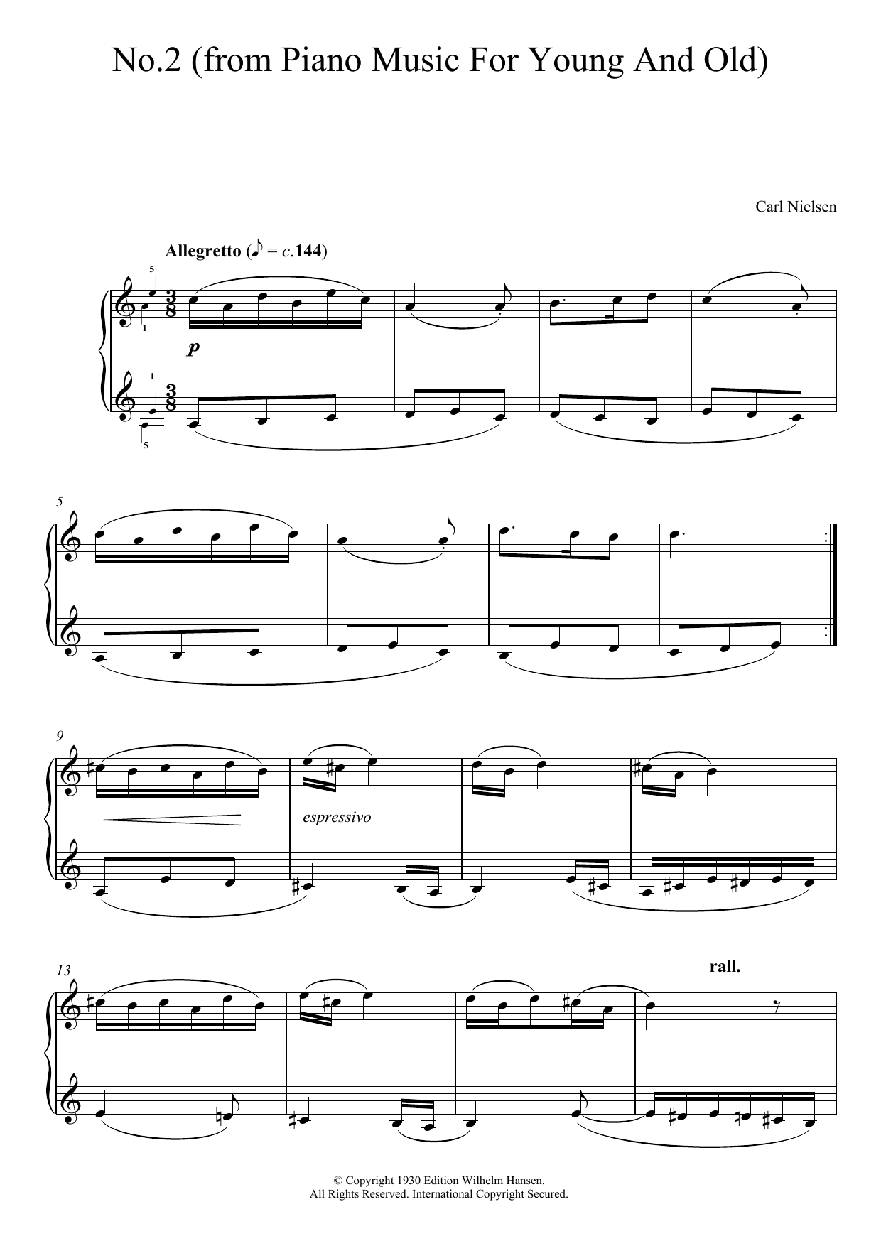 No. 2 (from 'Piano Music For Young And Old') Sheet Music