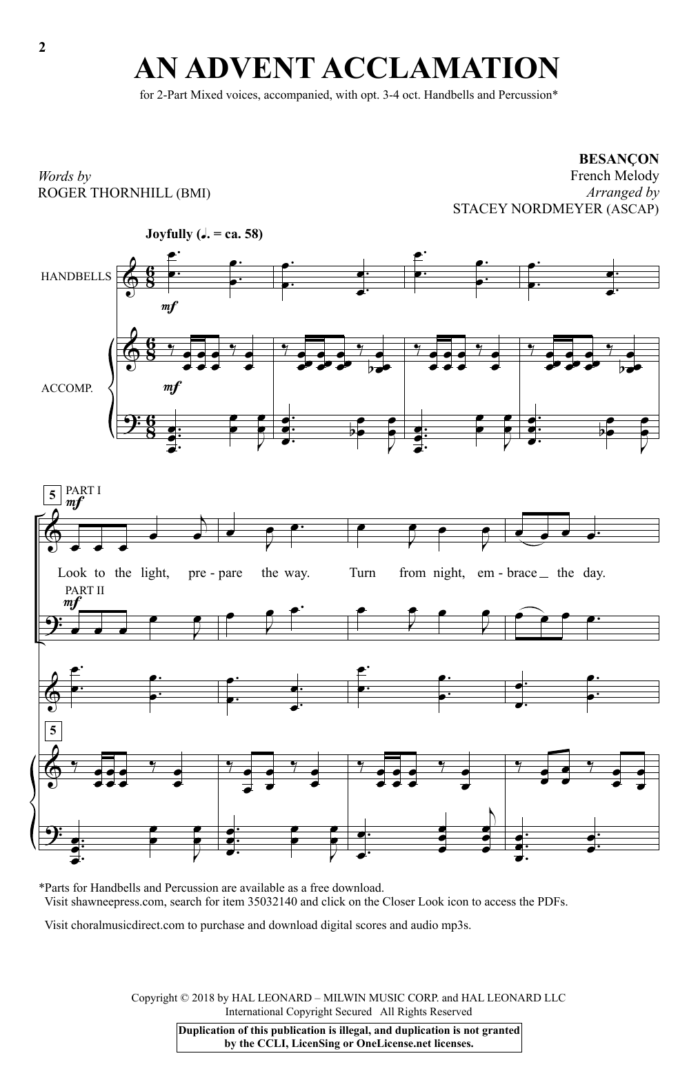 An Advent Acclamation Sheet Music