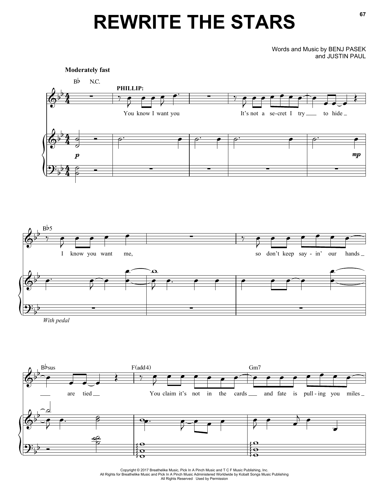 Rewrite The Stars (from The Greatest Showman) (Piano & Vocal)