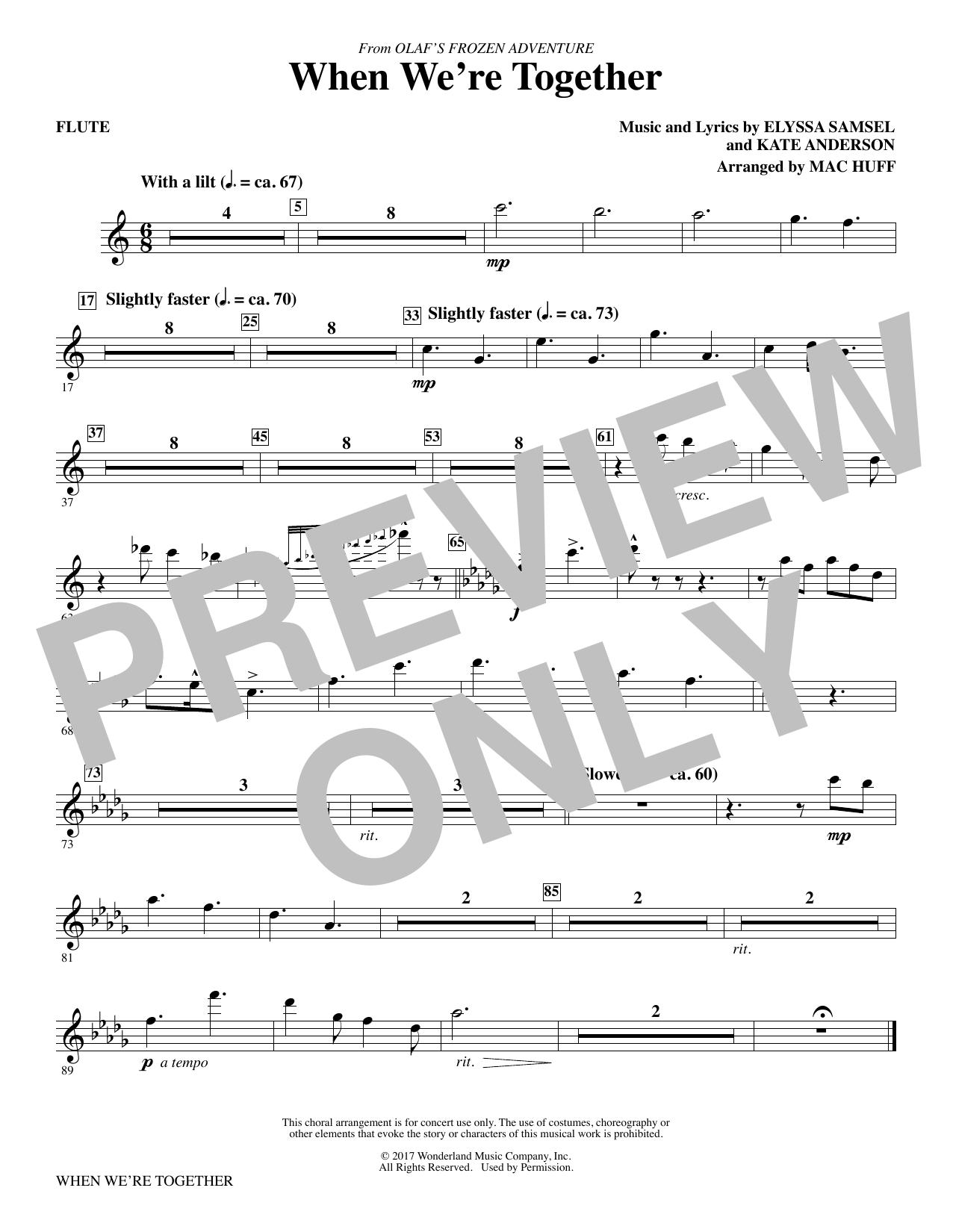 When We're Together - Flute (Choir Instrumental Pak)