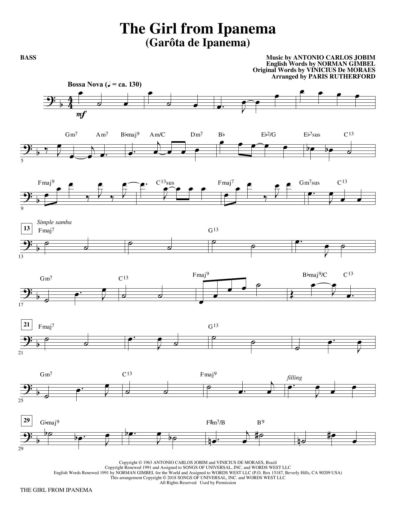 The Girl From Ipanema - Bass (Choir Instrumental Pak)