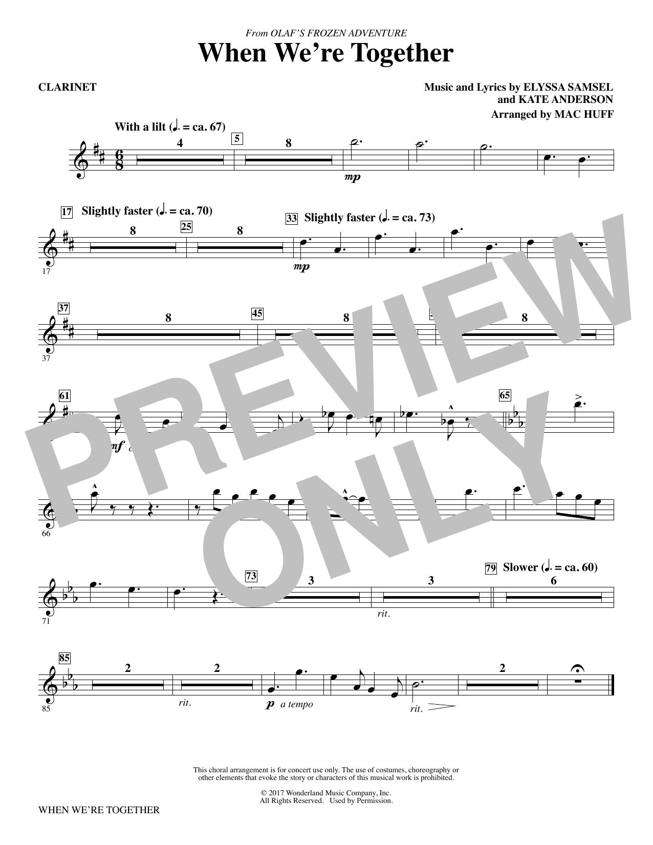 When We're Together - Clarinet (Choir Instrumental Pak)