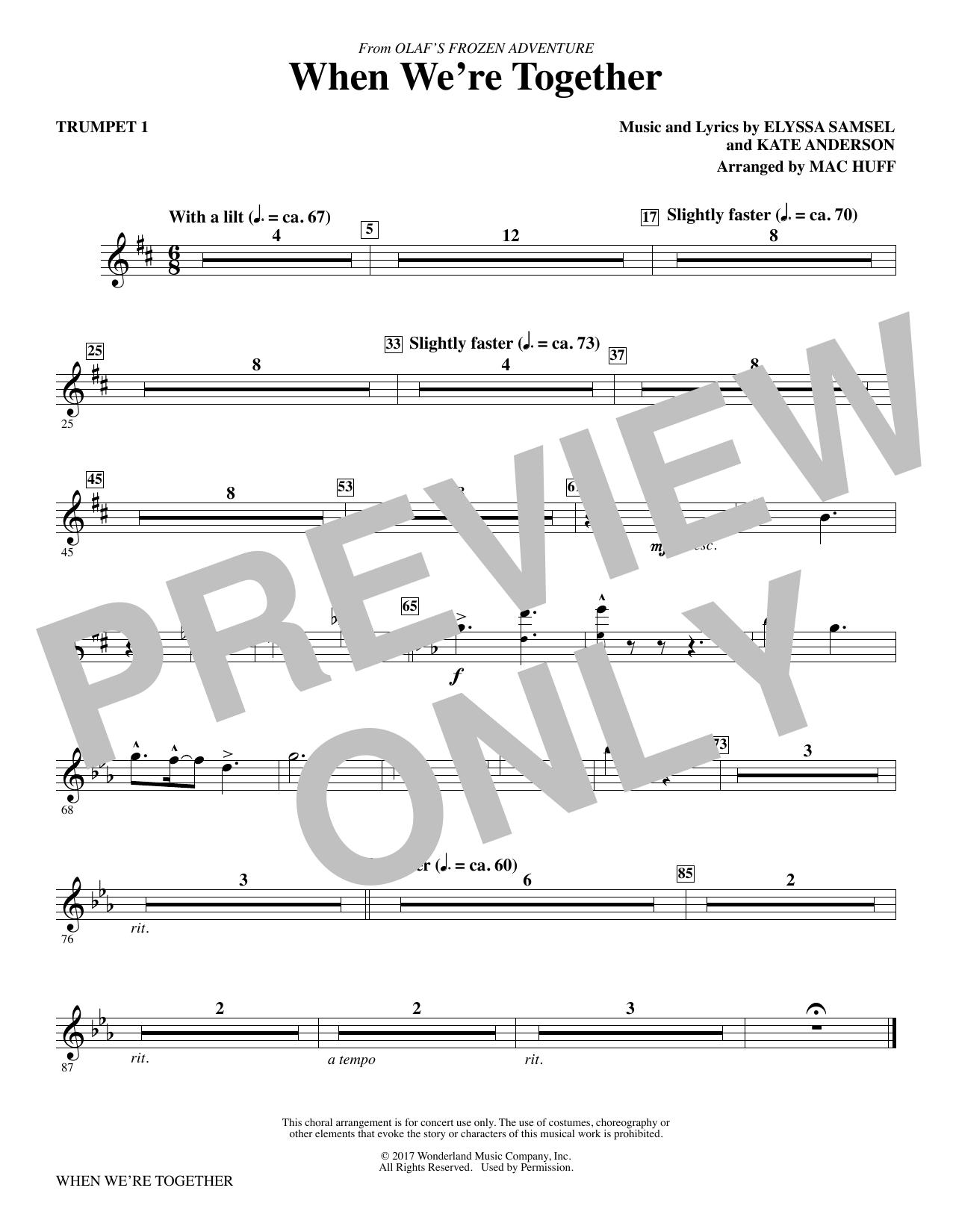 When We're Together - Trumpet 1 (Choir Instrumental Pak)