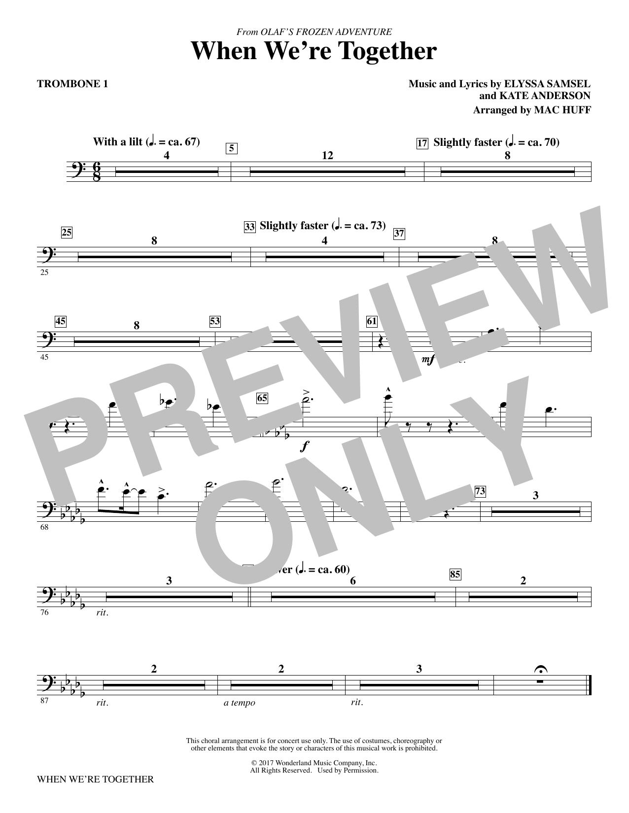 When We're Together - Trombone 1 (Choir Instrumental Pak)