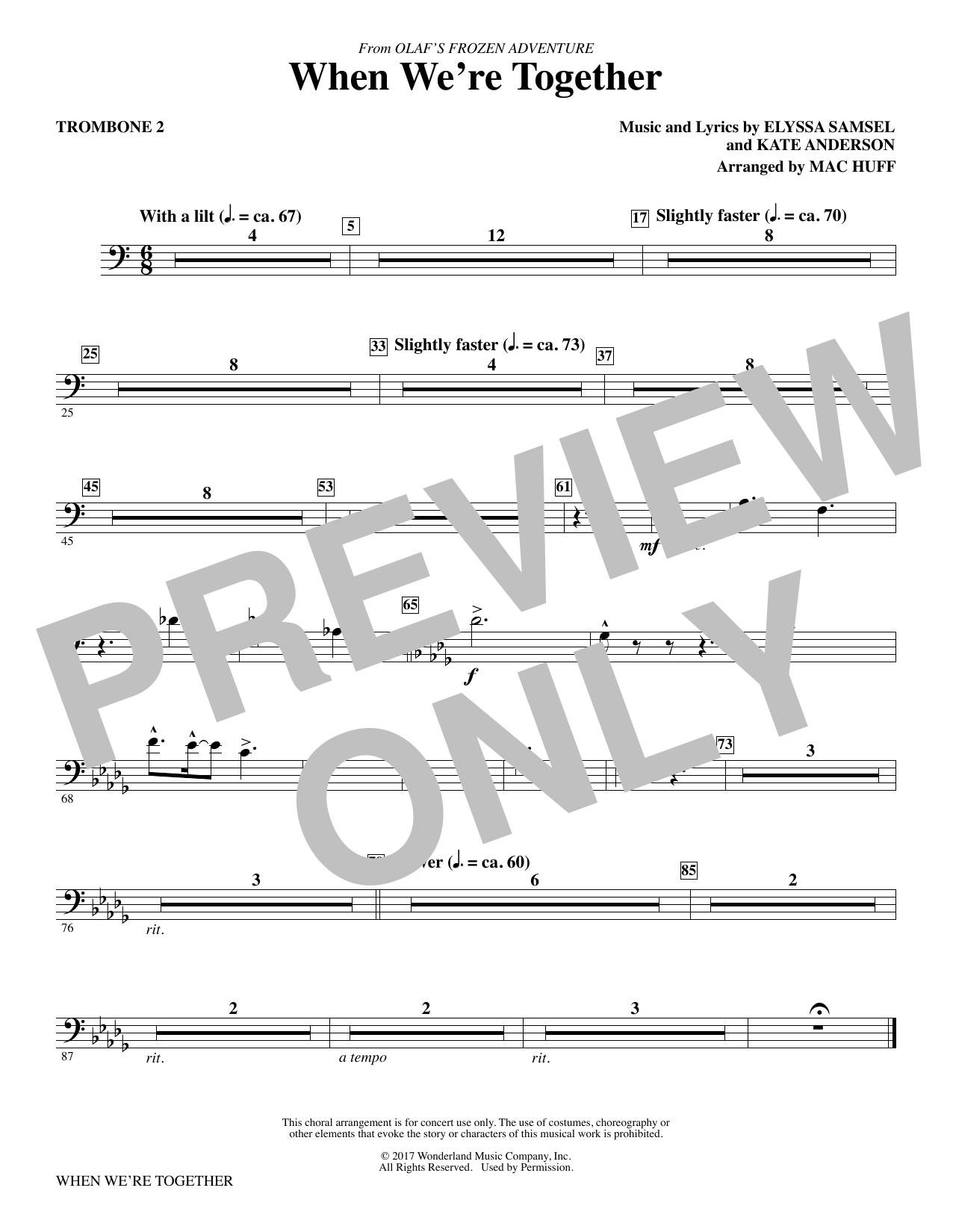 When We're Together - Trombone 2 (Choir Instrumental Pak)