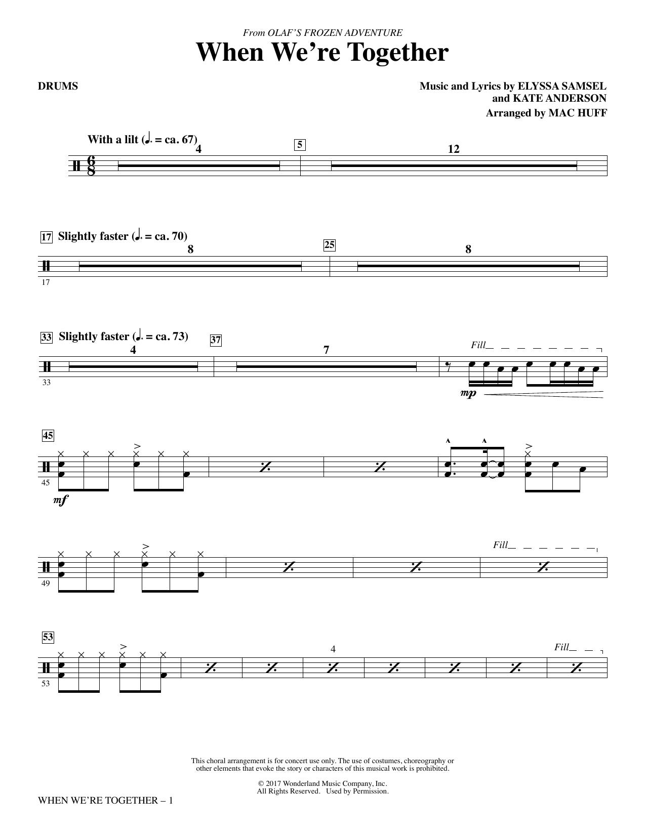 When We're Together - Drums (Choir Instrumental Pak)