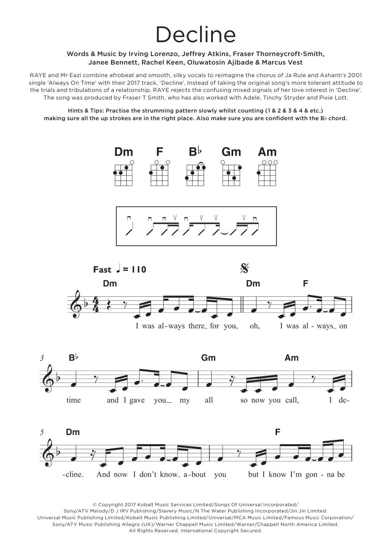 Decline Sheet Music