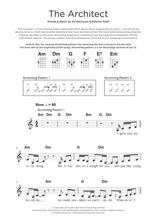 The Architect Sheet Music