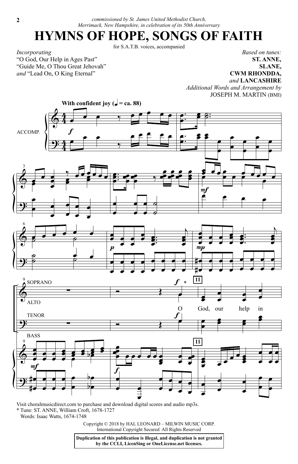 Hymns Of Hope, Songs Of Faith (SATB Choir)