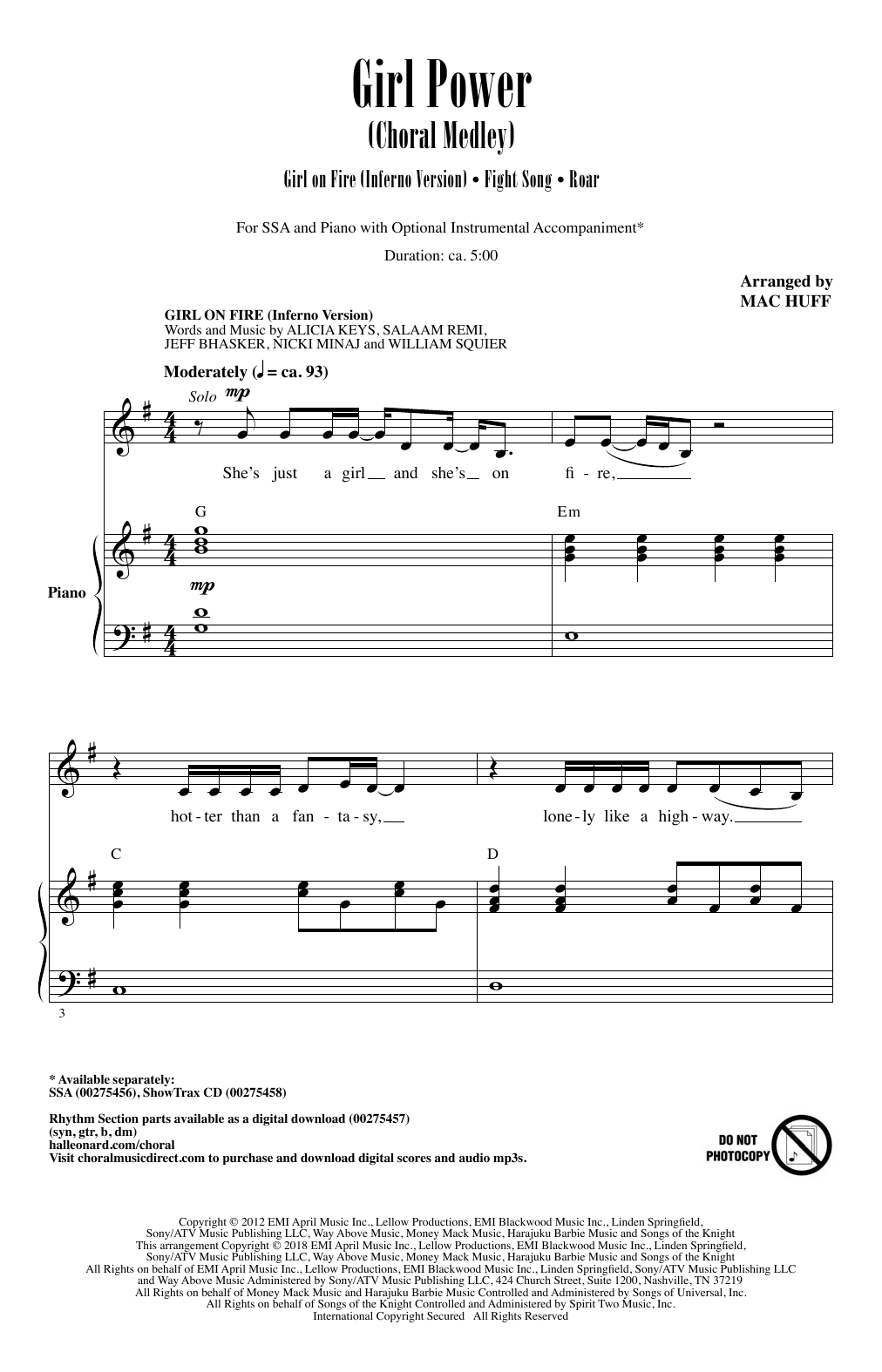 Girl Power (Choral Medley) Sheet Music