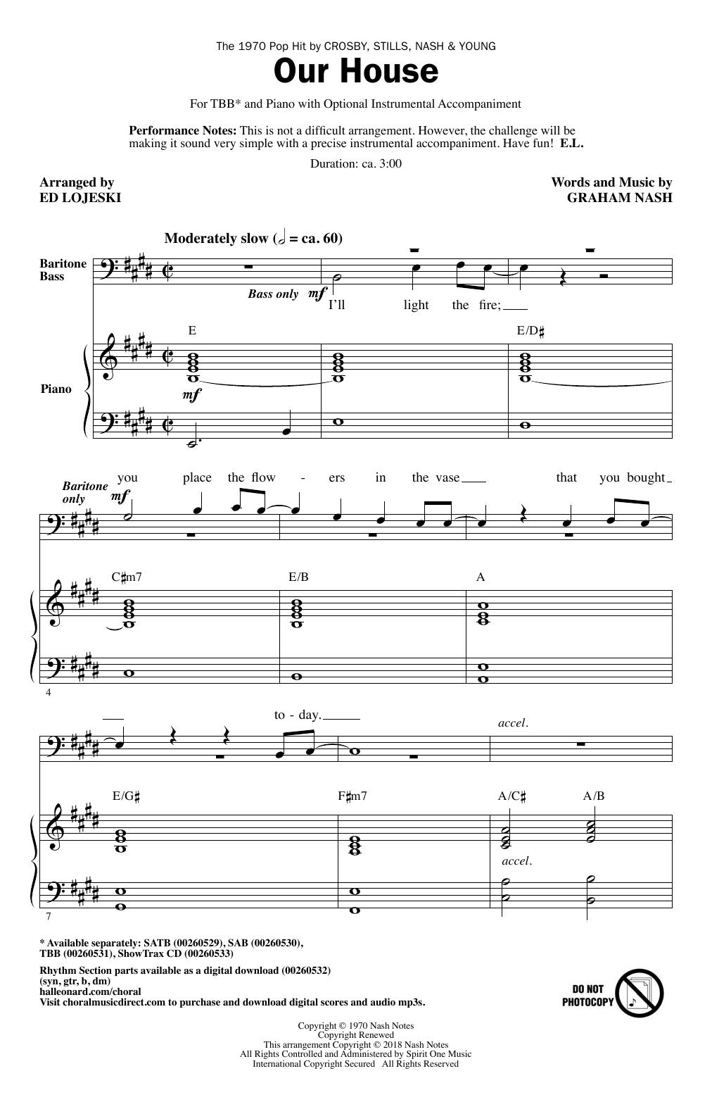 Our House (arr. Ed Lojeski) (TBB Choir)