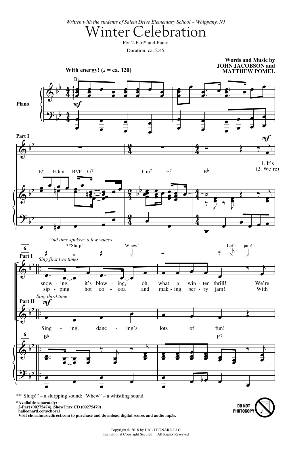 Winter Celebration Sheet Music