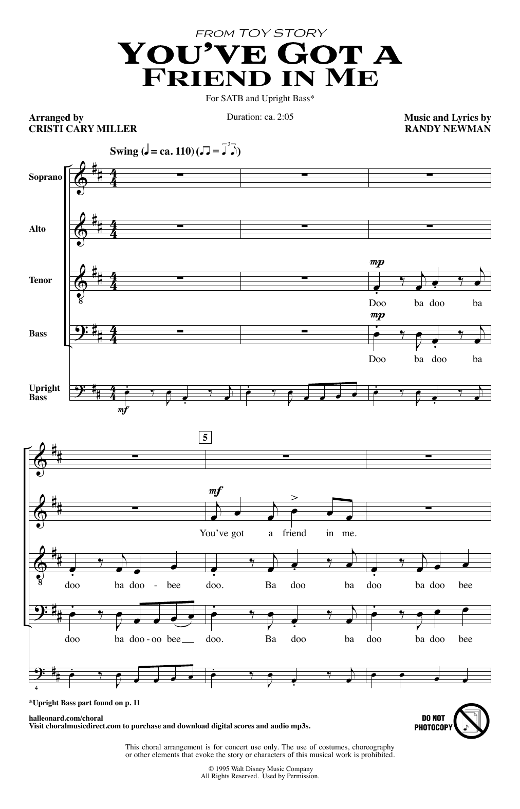 You've Got A Friend In Me (from Toy Story) (arr. Cristi Cary Miller) (SATB Choir)