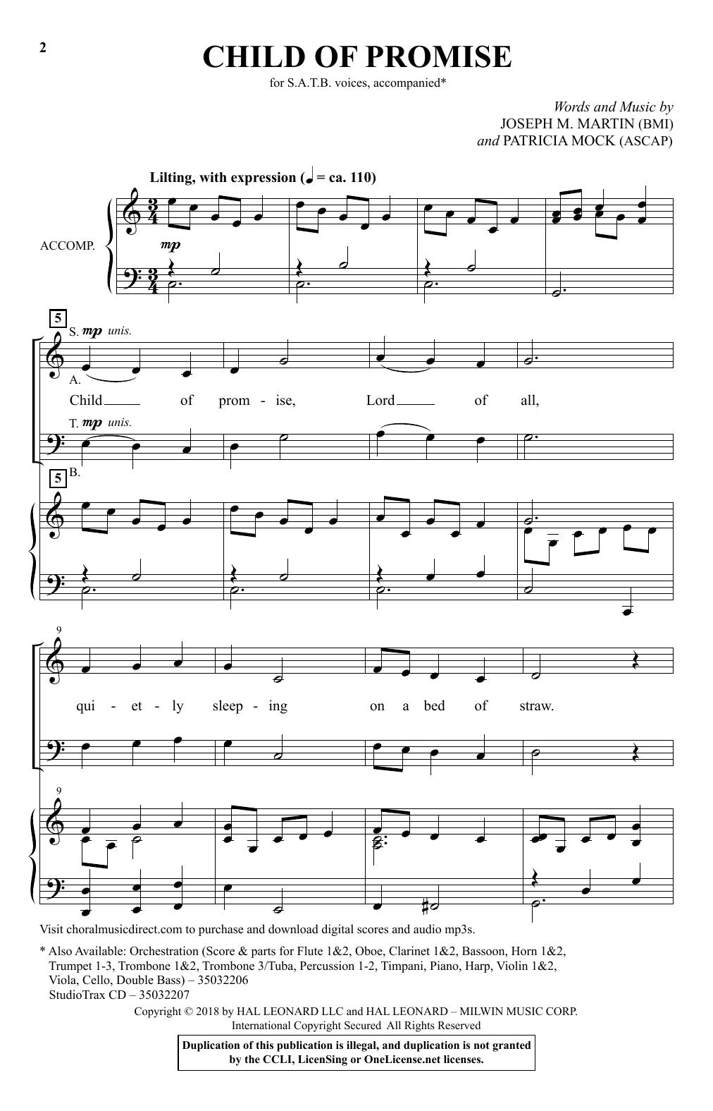 Child Of Promise Sheet Music