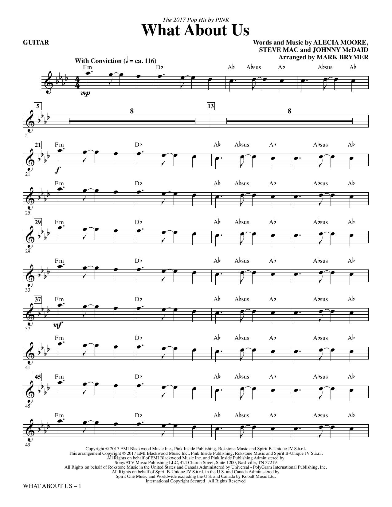 What About Us - Guitar (Choir Instrumental Pak)