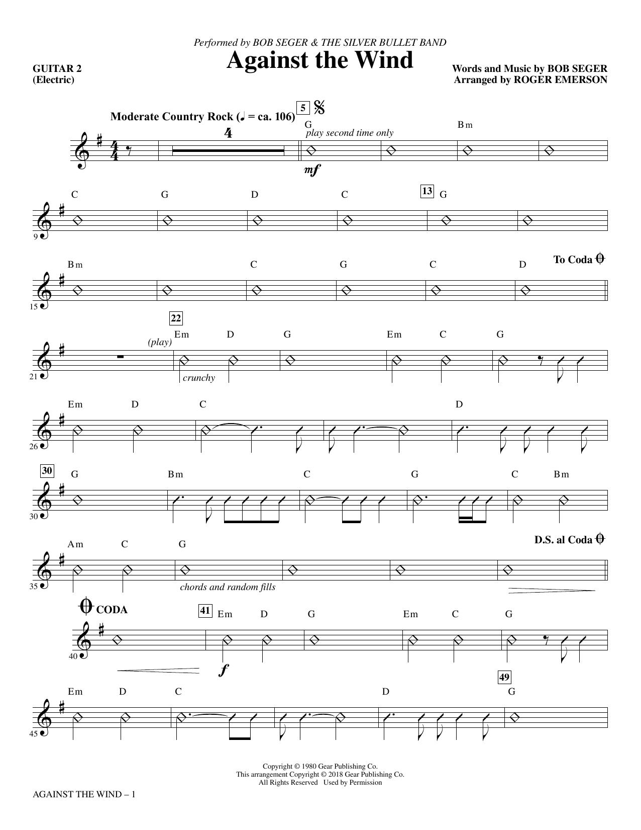 Against the Wind - Guitar 2 (Choir Instrumental Pak)