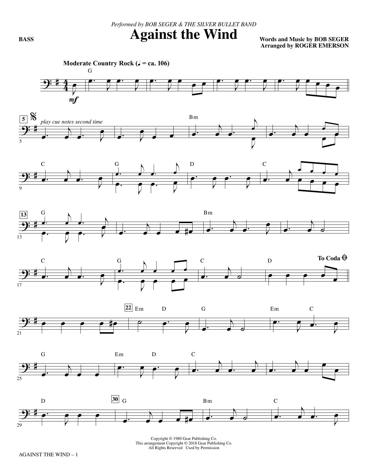 Against the Wind - Bass (Choir Instrumental Pak)