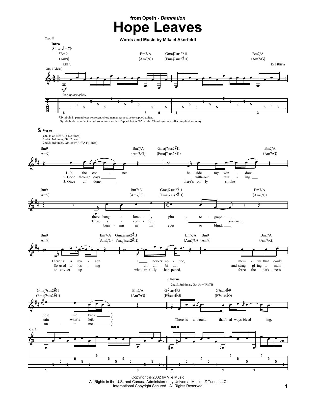 Hope Leaves Sheet Music