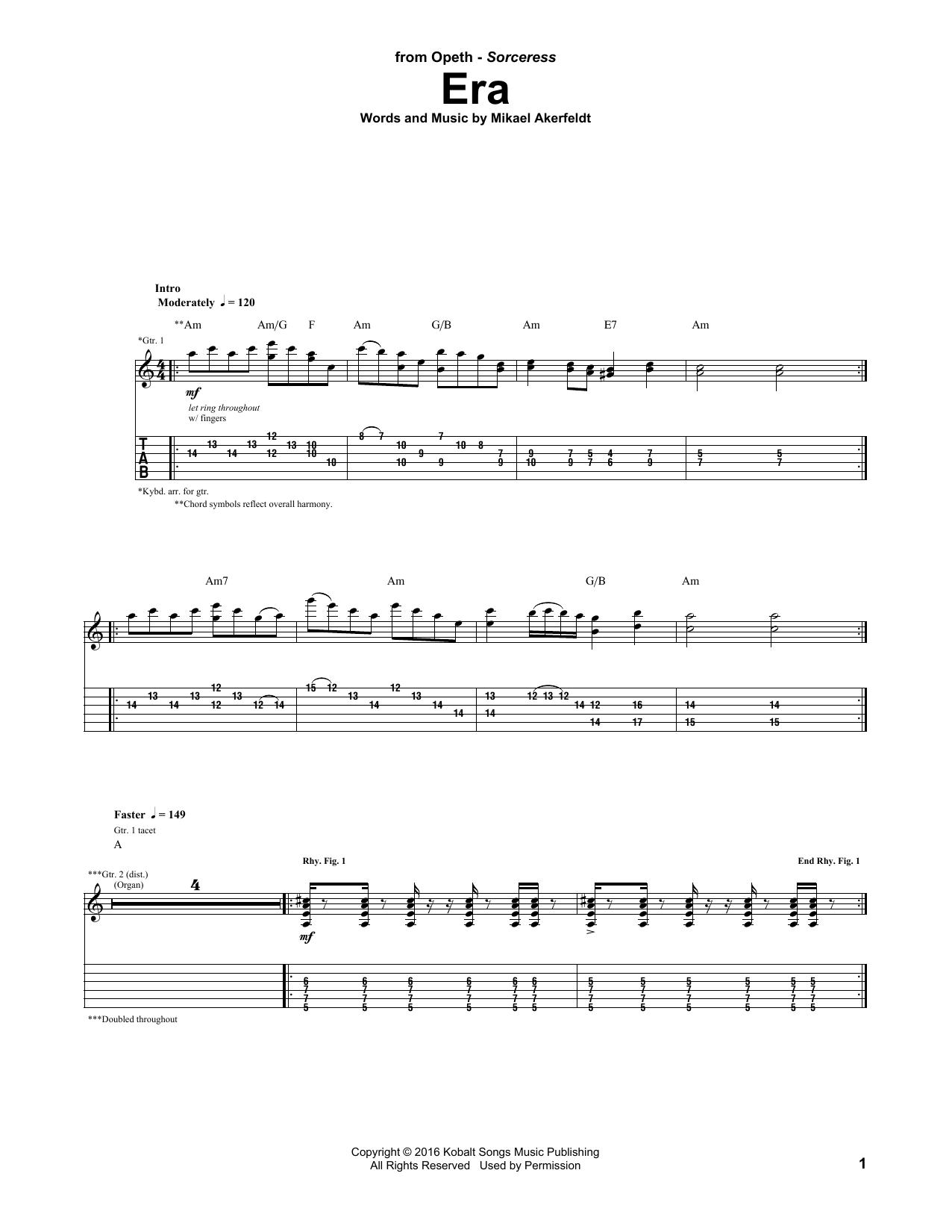 Era (Guitar Tab)