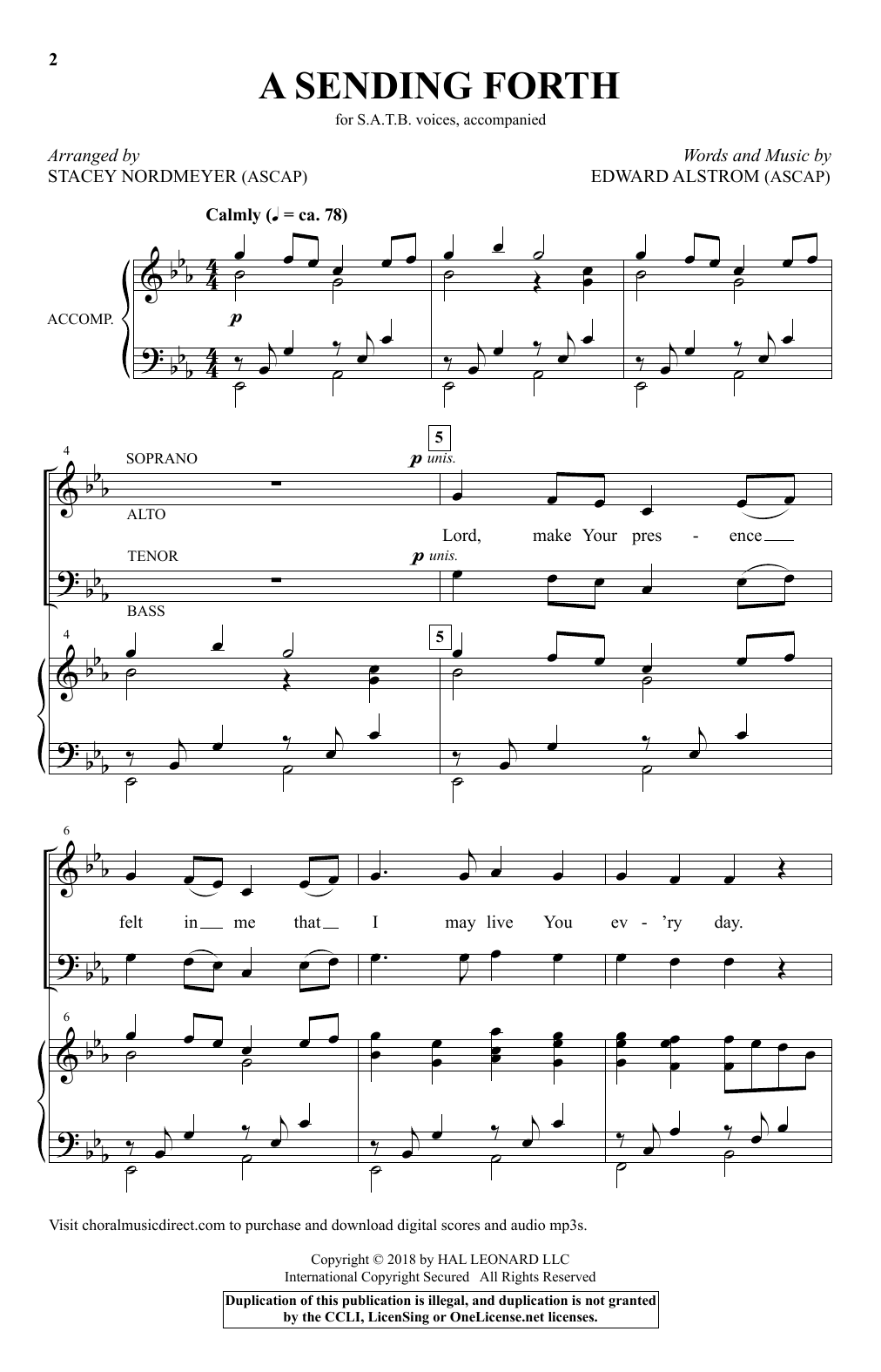 A Sending Forth Sheet Music