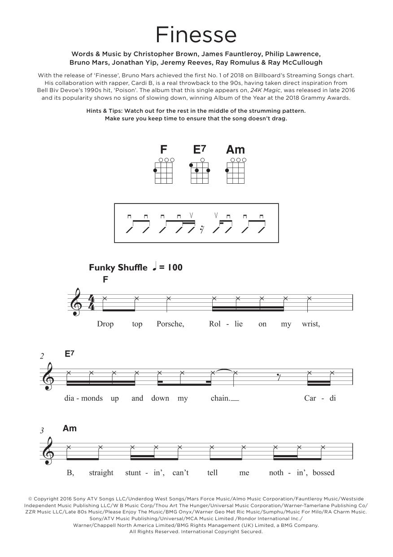 Finesse (feat. Cardi B) Sheet Music