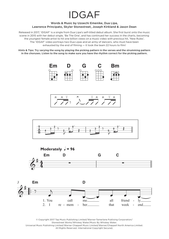 IDGAF Sheet Music