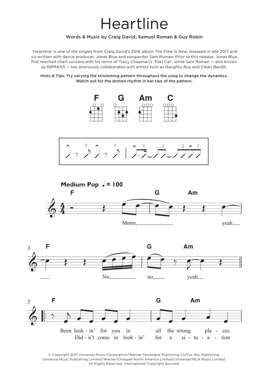 Heartline Sheet Music