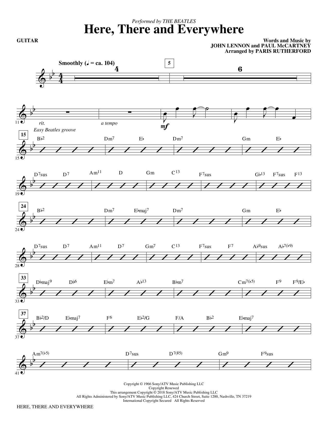 Here, There And Everywhere - Guitar (Choir Instrumental Pak)