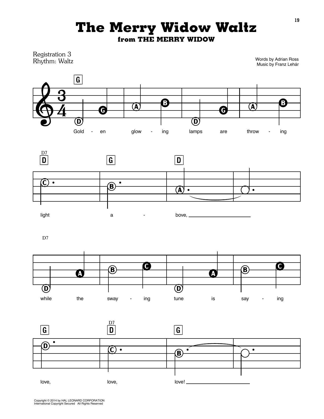 The Merry Widow Waltz (E-Z Play Today)