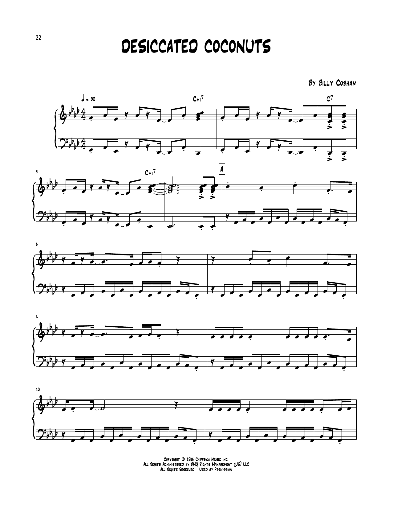 Desiccated Coconuts Sheet Music