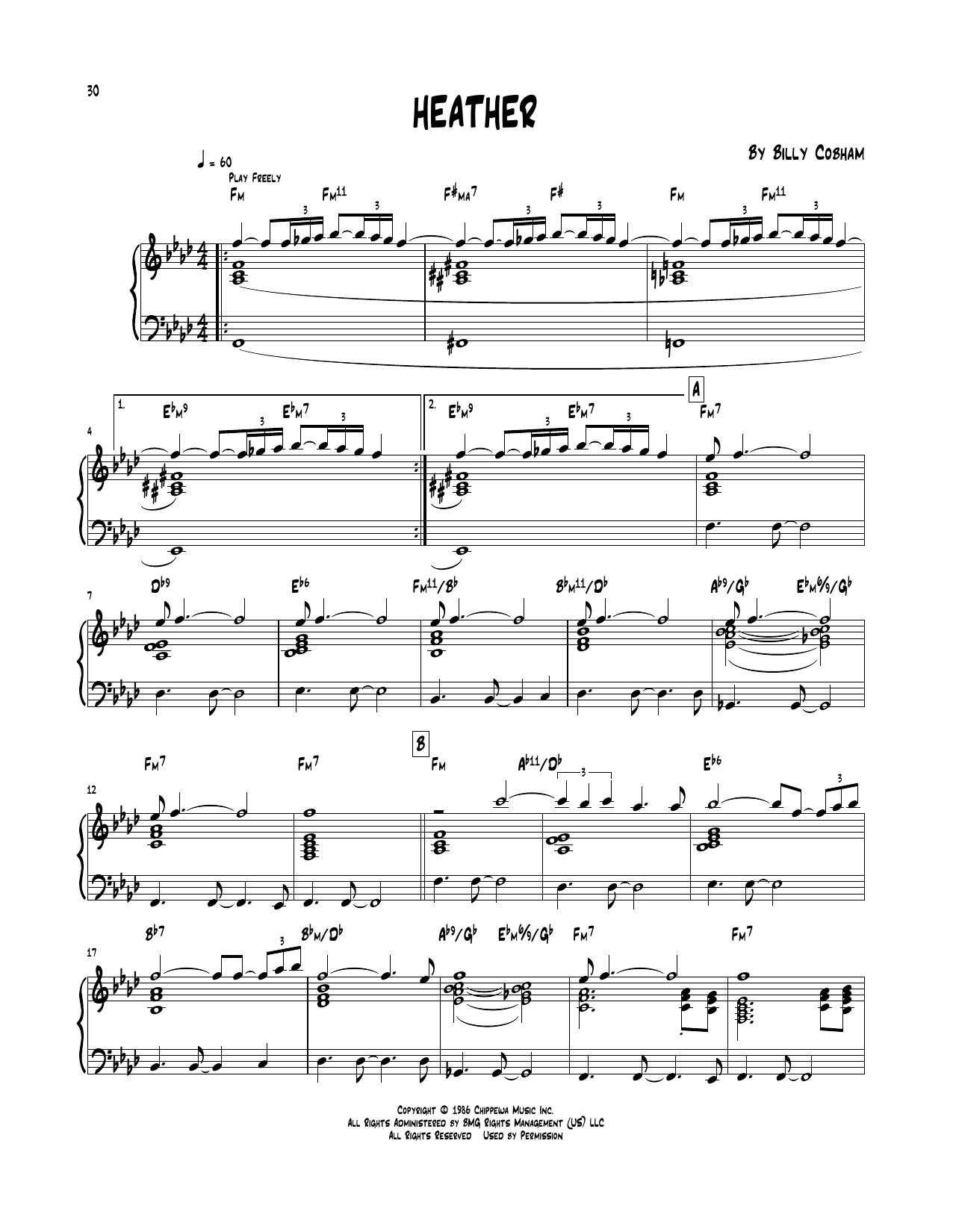 Heather (Piano Transcription)