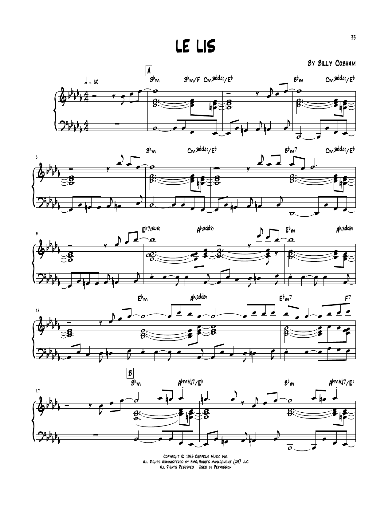Le Lis Sheet Music