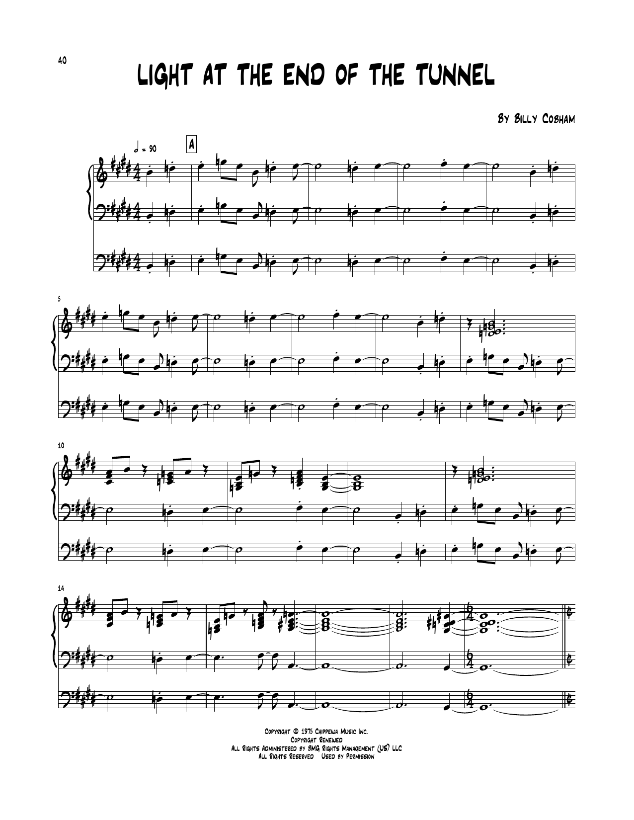 Light At The End Of The Tunnel Sheet Music