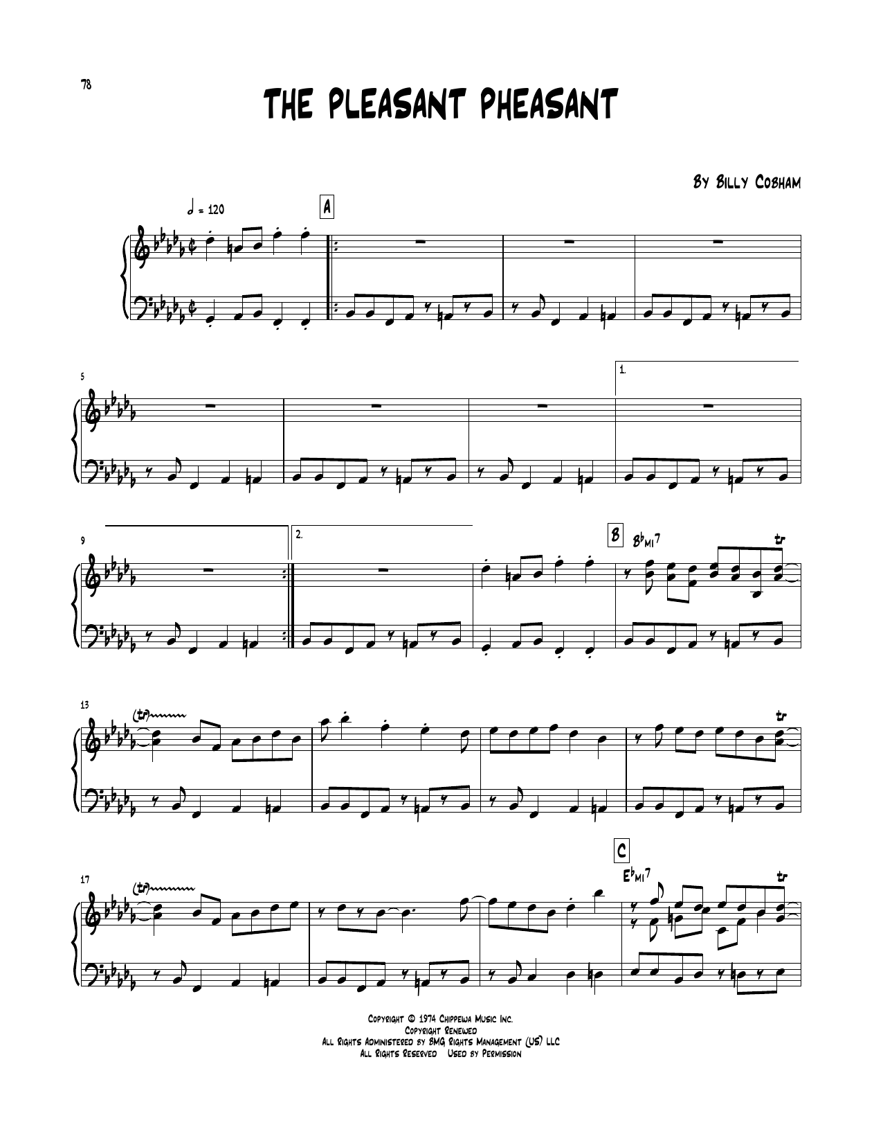 The Pleasant Pheasant (Piano Transcription)