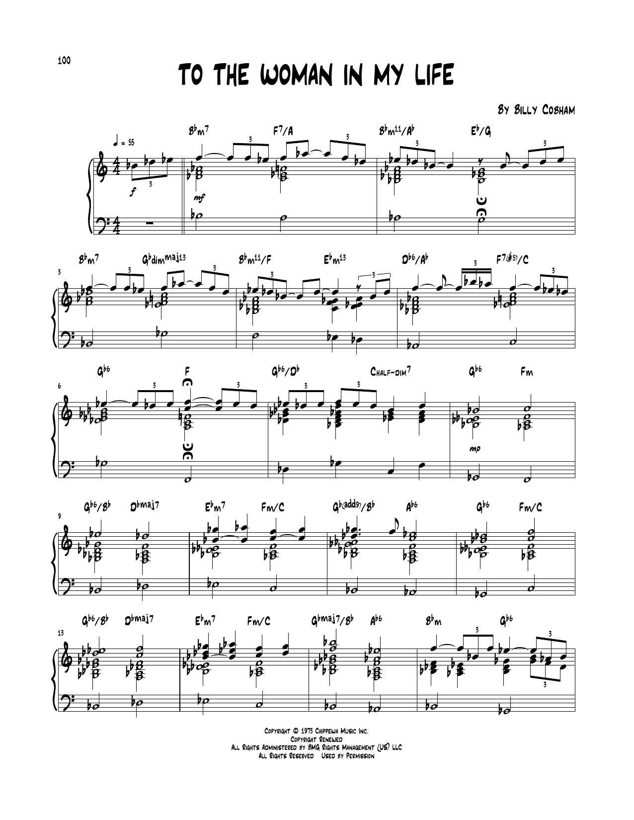 To The Woman In My Life Sheet Music