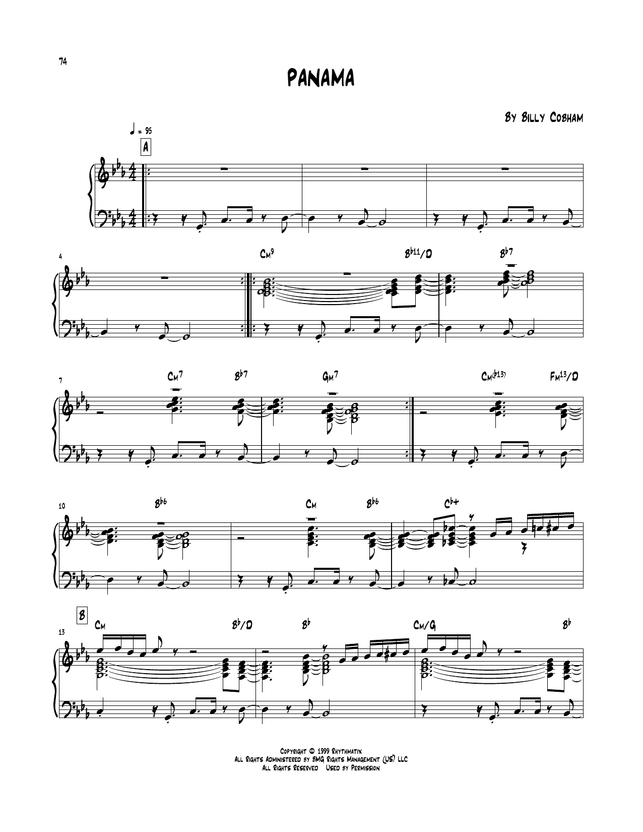 Panama (Piano Transcription)