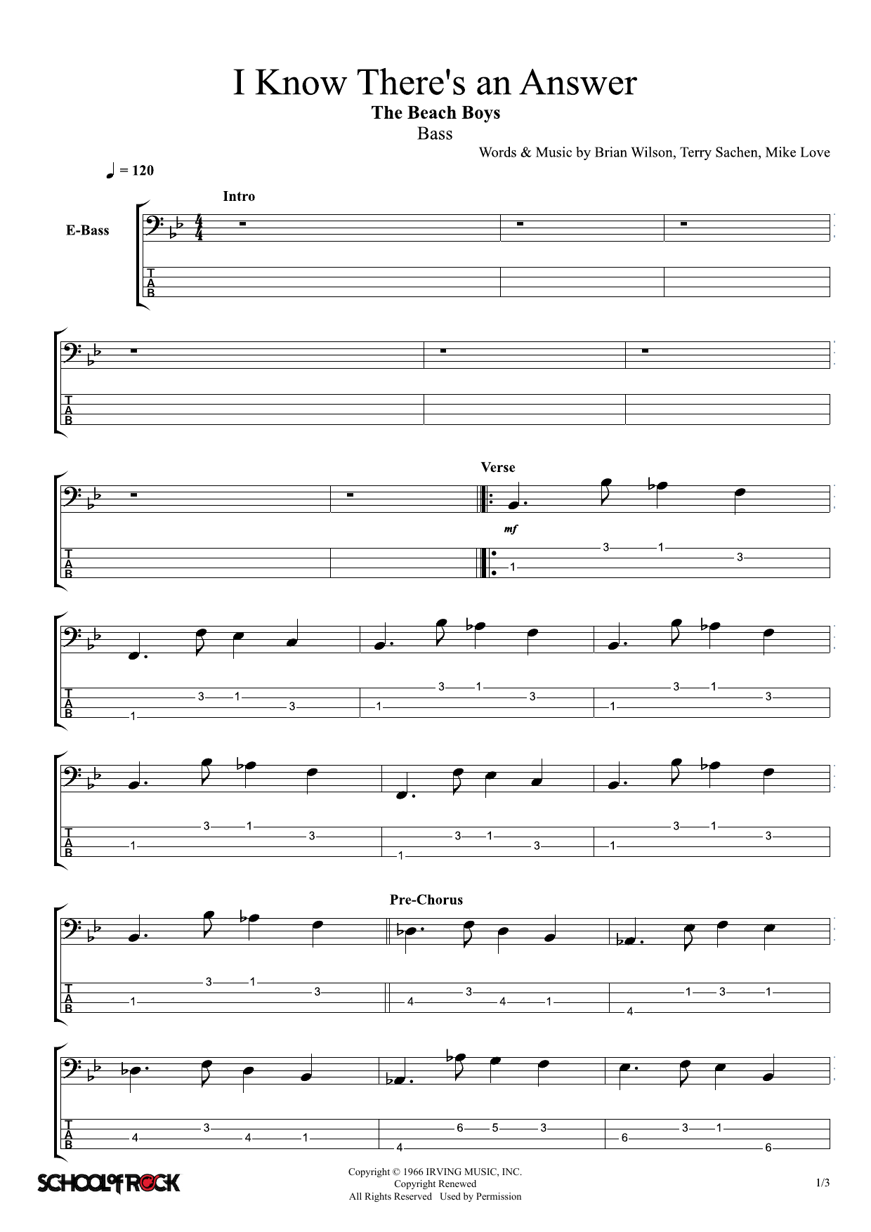 I Know There's An Answer Sheet Music