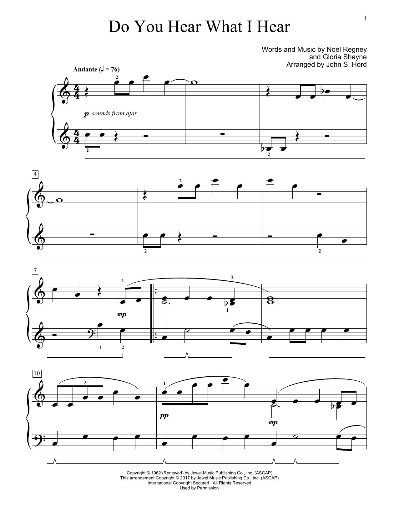 Do You Hear What I Hear (Educational Piano)