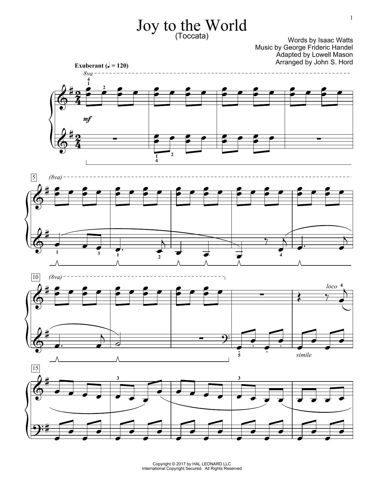 Joy To The World (Educational Piano)